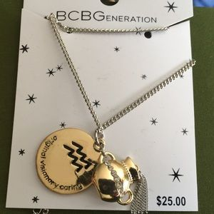 Aquarius Gold & Silver Zodiac Pendant